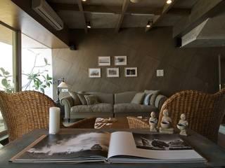 Supreme Residency Team Design 现代客厅設計點子、靈感 & 圖片