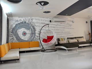 Living Room Graphics Modern living room by BION Creations Pvt. Ltd. Modern