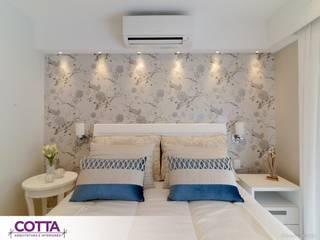 Apartamento 184m²: Quartos  por Cotta Arquitetura e Interiores,