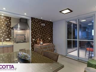 Apartamento 184m²: Salas de jantar  por Cotta Arquitetura e Interiores,