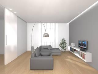 Casa C+R: Soggiorno in stile  di Davide Randi Architetto