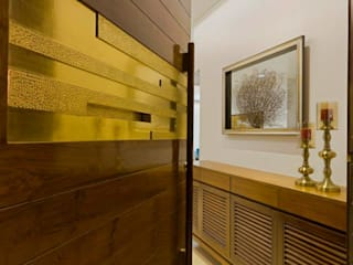 Mr.nailesh shah bungalow Modern corridor, hallway & stairs by P & D Associates Modern