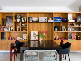 RSRG Arquitetos Phòng ăn phong cách tối giản