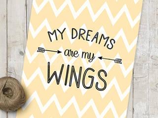 ★ poster ★ my dreams are my wings ★ por Digo Escandinavo