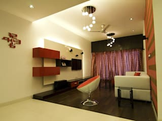 Residence in Jayanagar Modern living room by Design Cafe Modern