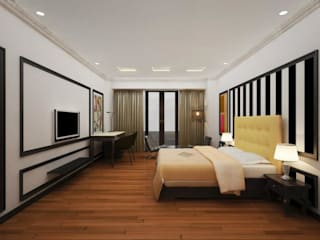 Hotel in Mysore Modern style bedroom by Design Cafe Modern