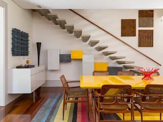 Eliane Mesquita Arquitetura ห้องโถงทางเดินและบันไดสมัยใหม่