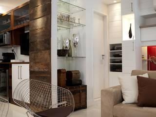Apto K Salas de estar modernas por m++ architectural network Moderno