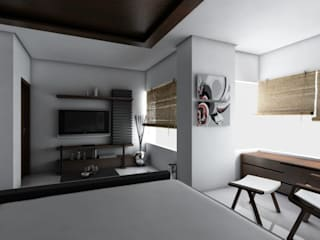 LalMun Apartment Modern living room by Errol Reubens Associates Modern