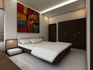 LalMun Apartment Modern style bedroom by Errol Reubens Associates Modern