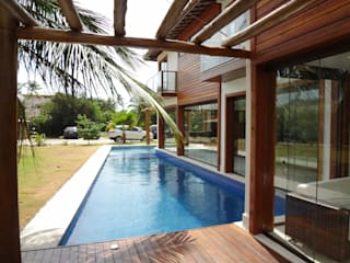 Rustic style houses by Tupinanquim Arquitetura Brasilis Rustic