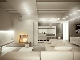 Living room by Giuseppe DE DONNO - architetto, Modern