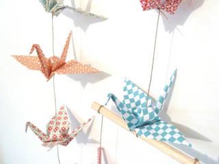 Mobile en origami 14 grues:  de style  par Papierelief
