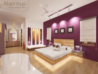 Unique style & colored bedroom design Modern style bedroom by homify Modern