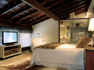 Rustic style bedroom by BRAESCHER FOTOGRAFIA Rustic