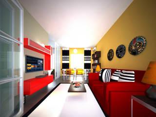 Salas de estar modernas por Architetto Libero Professionista Moderno
