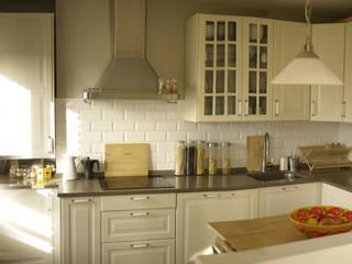 Etxe&Co Cocinas de estilo mediterráneo Tablero DM Beige