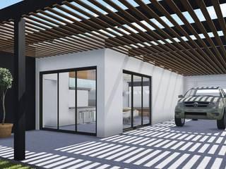 Proyecto Quincho en Las Rosas ARBOL Arquitectos Modern balcony, veranda & terrace