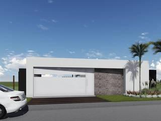 Proyecto Quincho en Las Rosas ARBOL Arquitectos Garage Doors