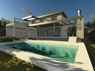 CASA MIRADOR DEL LAGO: Piletas de estilo  por MB Arquitectura.