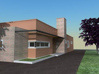 Casa Caro & Emi Maisons modernes par Aureo Arquitectura Moderne
