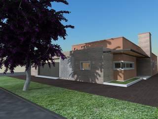 Casa Caro & Emi 現代房屋設計點子、靈感 & 圖片 根據 Aureo Arquitectura 現代風