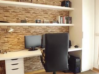 Apartamento c/ 2 quartos - Pinhal Novo, Palmela: Escritórios e Espaços de trabalho  por Traço Magenta - Design de Interiores