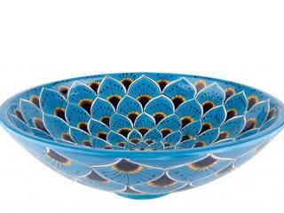 Umywalki nablatowe kuliste z Meksyku Kolory Meksyku ŁazienkaUmywalki Ceramika Turkusowy