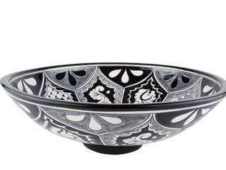 Umywalki nablatowe kuliste z Meksyku Kolory Meksyku ŁazienkaUmywalki Ceramika Czarny
