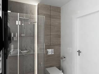 INVENTIVE INTERIORS - Męskie mieszkanie z betonem Industrialna łazienka od Inventive Interiors Industrialny