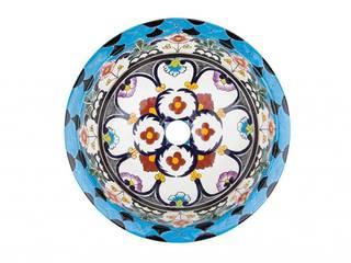 Umywalki wpuszczane okrągłe małe z Meksyku Kolory Meksyku ŁazienkaUmywalki Ceramika Wielokolorowy