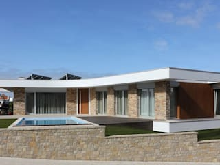 Moradia em Caldas da Rainha: Casas modernas por SOUSA LOPES, arquitectos