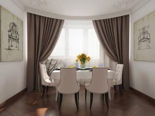 Легкая классика Столовая комната в эклектичном стиле от YES-designs Эклектичный