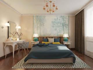 Легкая классика Спальня в эклектичном стиле от YES-designs Эклектичный