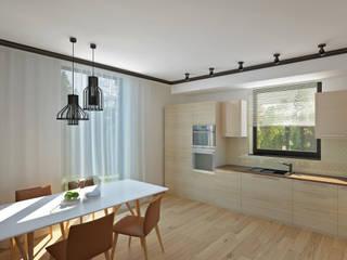 Коттедж в г.Киров Столовая комната в стиле минимализм от YES-designs Минимализм