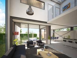 Woonhuis FRAME Eindhoven :  Woonkamer door 2architecten, Modern