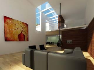 Woonhuis LVDO Eindhoven :  Woonkamer door 2architecten, Modern
