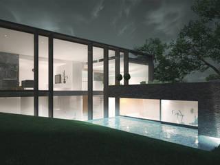 Woonhuis SOLID:  Zwembad door 2architecten, Modern