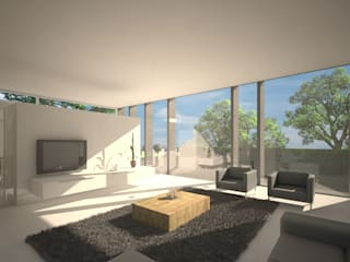 Woonhuis SOLID:  Slaapkamer door 2architecten, Modern