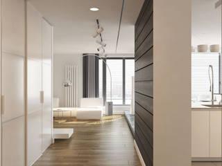 Pasillos, vestíbulos y escaleras de estilo minimalista de Brama Architects Minimalista