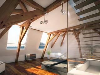 Penthouse TEMW Utrecht :  Slaapkamer door 2architecten, Modern