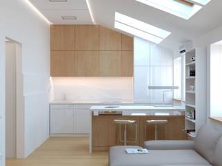 Cocinas de estilo minimalista de Brama Architects Minimalista