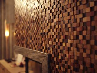 Önwall. Handmade wood mosaic tiles. : rustic  by Önwall, Rustic