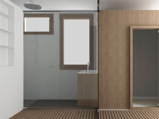Casa SP Bagno minimalista di 02.aa architetti associati Minimalista