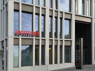 Bürohaus Zentrum Rebstock, Churerstrasse 42 Pfäffikon:  Bürogebäude von Fröhlich Architektur AG,Modern