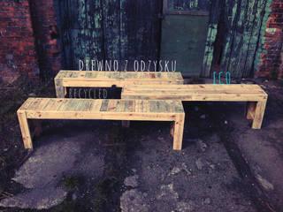 Drewniane Ławki od Treefabric Industrialny