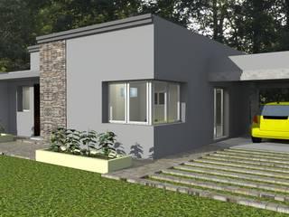 Vivienda Unifamiliar - 90 m² - Zona Villa Carlos Paz: Casas de estilo  por Arq. Barale Guillermo