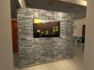 Vivienda Unifamiliar - 90 m² - Zona Villa Carlos Paz: Livings de estilo  por Arq. Barale Guillermo