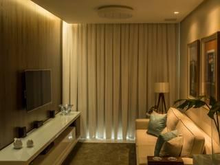 Foto 01 - Living Apartamento A+B: Salas de estar  por abmaisarquitetos