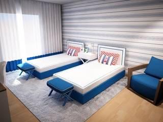 Ângela Pinheiro Home Design Nursery/kid's room Wood Blue